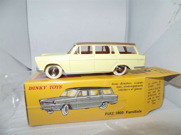 Atlas French Dinky 548 FIAT 1800 Familiale Estate Yellow Brown